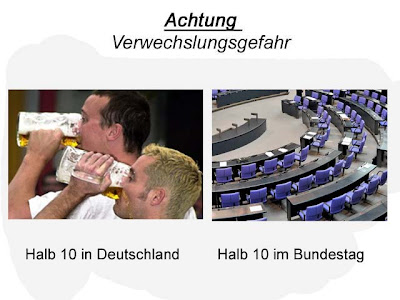 Lustige Bilder halb 10 in Deutschland Bundestag