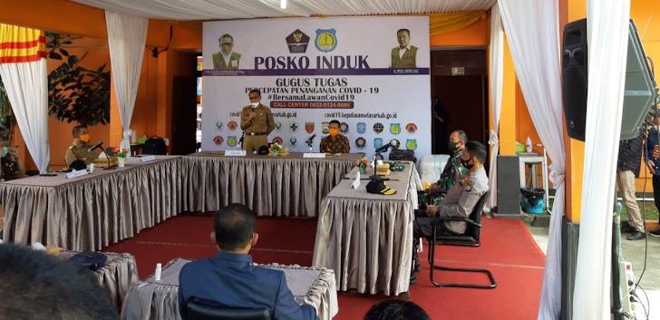 Gubernur Nurdin, Pangdam Andi Bersama Kapolda Guntur Kunjungi Posko Covid19 dan Makodim 1415/Selayar