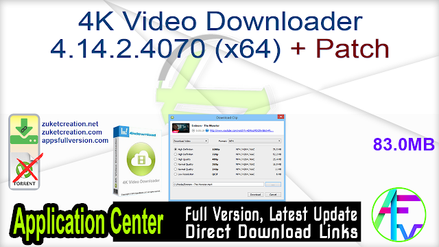 4K Video Downloader 4.14.2.4070 (x64) + Patch
