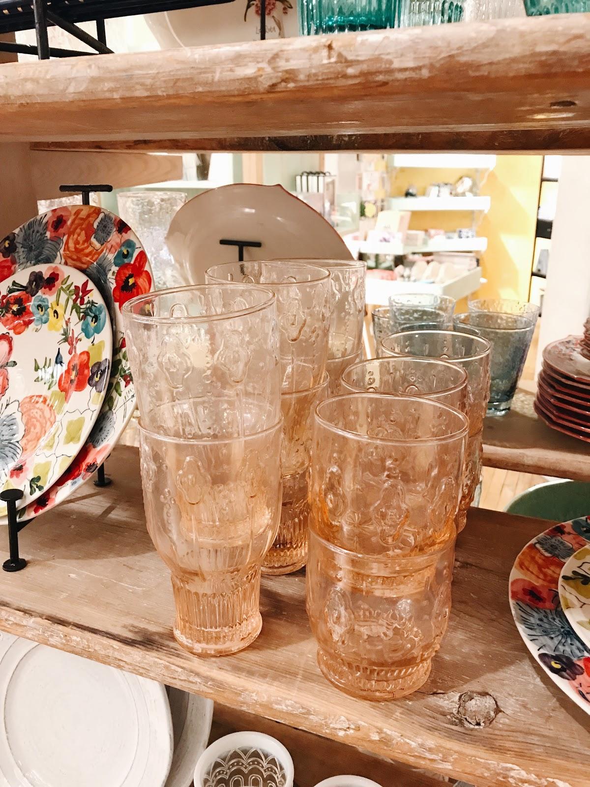 Anthropologie glassware