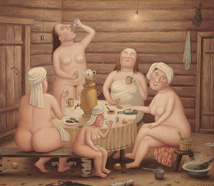 Бабули моются в бане фото 348-71