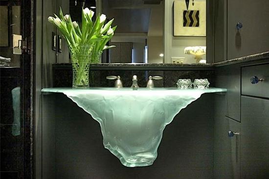 Pias de banheiro mais bizarras - Pia Frozen