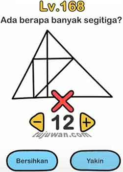 Brain out banyak segitiga ada berapa?