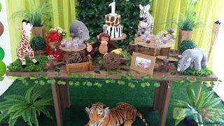 Decoração festa infantil Safári Selva Floresta Zoológico
