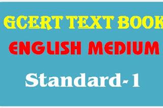 GCERT Textbook English medium std 1 pdf @ https://gcert.gujarat.gov.in/gcert