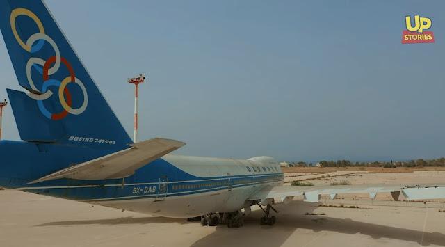 Ολυμπιακή Αεροπορία: Πτήση στον χρόνο με το θρυλικό Boeing 747-200 και VIP αεροσυνοδό (βίντεο drone)