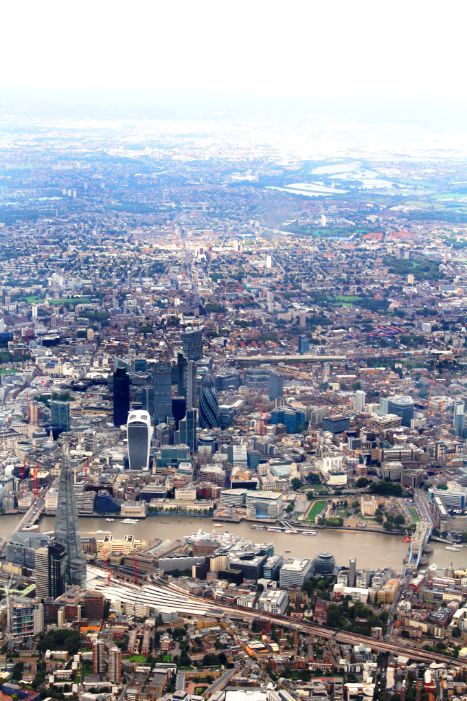 London view from the plane - The Wayfarer