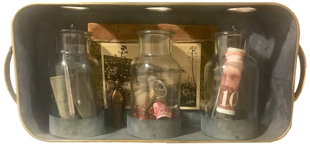 Assemblage of antiques, ephemera and found objects © Mary Becker Weiss
