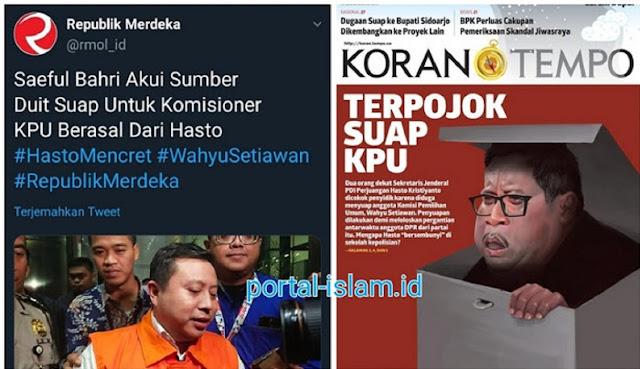 """OTT Komisioner KPU, Andi Arief Sebut Ada Skenario """"Amankan"""" Sekjen PDIP"""