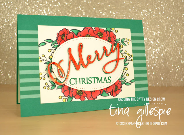 scissorspapercard, Stampin' Up!, CASEing The Catty, Bloom And Grow, Merry Christmas To All Bundle, In Colour DSP, Stampin' Blends, Christmas