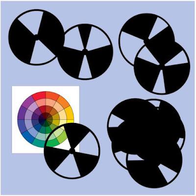 Katie Fowler's color wheel with ten black discs