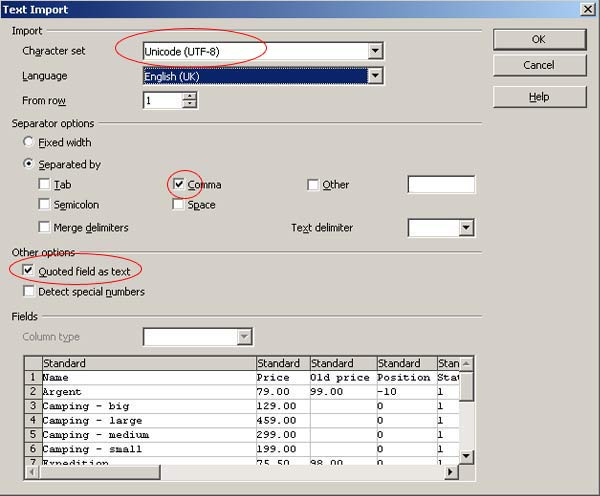 how to import csv or excel format products data in magento calc setting full view
