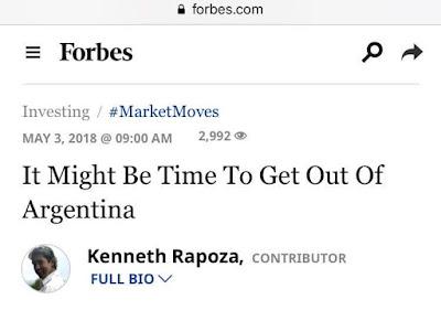 Revista Forbes, hoy. Suplemento de análisis de mercado e inversiones. Título: