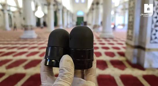 The bullets fire inside Al-Aqsa Mosque's Al-Qabli part