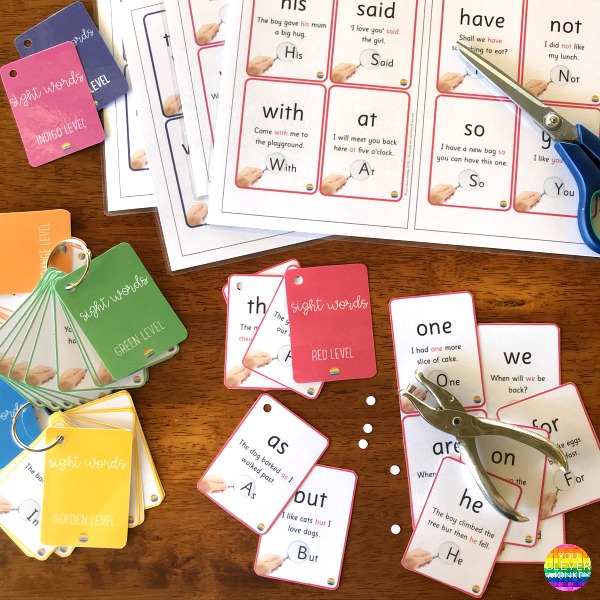 Sight Word Cards  - First 100 Oxford Word List | you clever monkey
