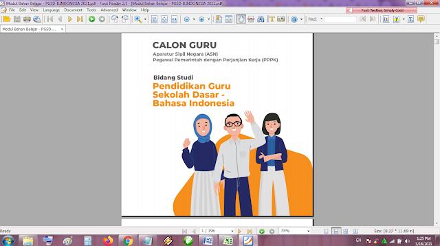 Modul Belajar Mandiri PGSD Bahasa Indonesia Seleksi Guru PPPK Tahun 2021
