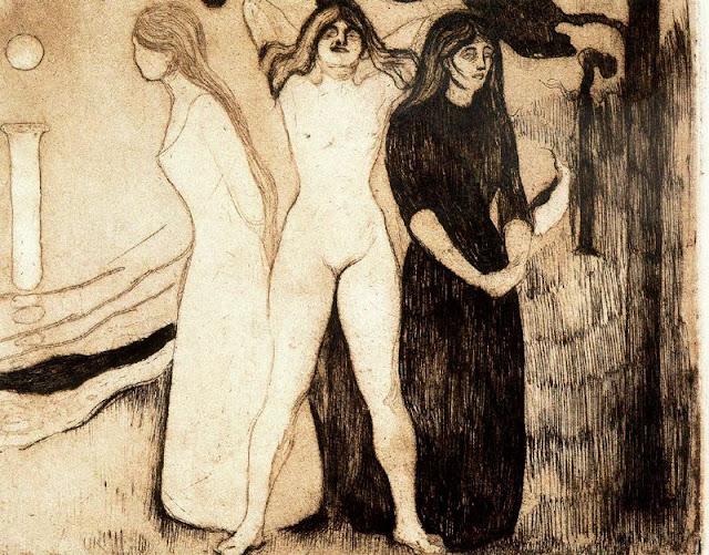 Эдвард Мунк - Женщины. 1895