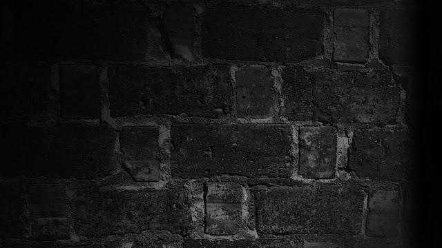 Download Wallpaper 1920x1080 Wall, Brick, Texture, Shadow, Black