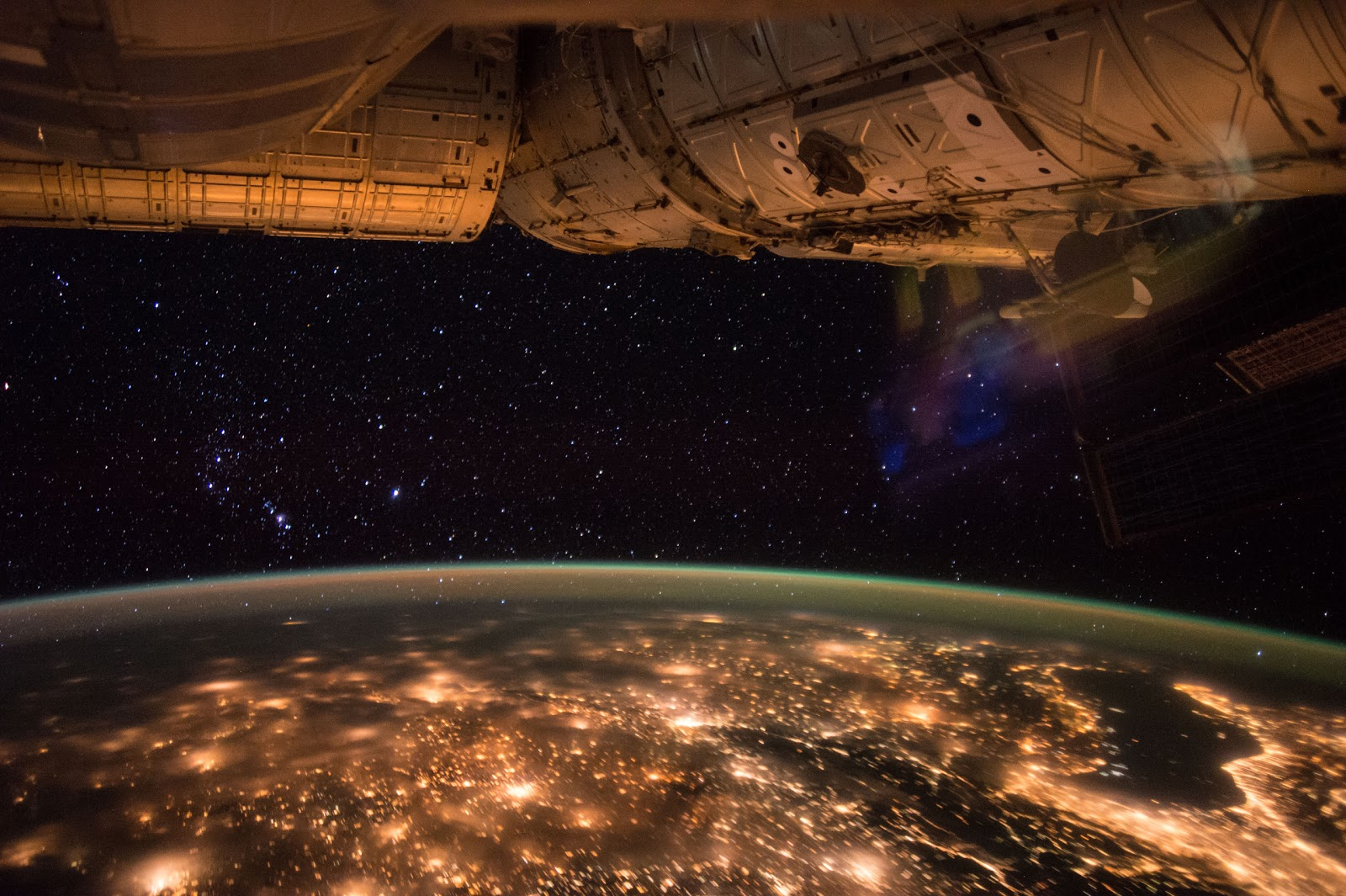 Europe at Night seen from the International Space Station ...