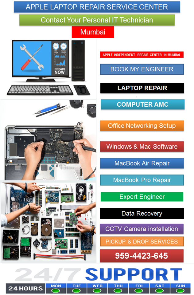 Apple laptop repair servic center in mumbai, Contact your Personal IT Technician.