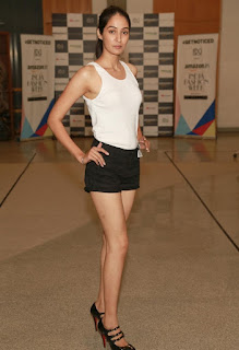 Amazon India Fashion Model Walks teh Ramp in Tank Tops and Shorts Spicy Pics