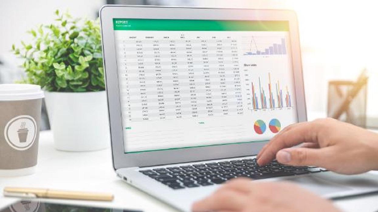 برمجة المشكلة في برنامج التحليل الالكتروني للقوائم المالية باستخدام برنامج Microsoft Excel