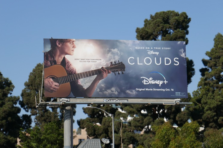 Disney Clouds film billboard
