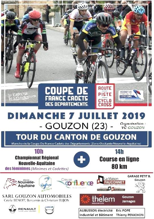 Comité Départemental FFC de la Creuse: S. 7 juillet 2019: les