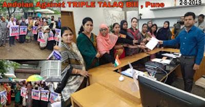 tripal talak bill against andolan