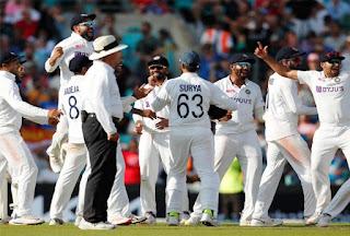भारत और इंग्लैंड के बीच केनिंग्टन ओवल में 5 मैचों की टेस्ट सीरीज का चौथा मैच खेला गया जिसमें टीम इंडिया ने इंग्लैंड को 157 रनों से हराकर सीरीज में 2-1 से बढ़त बना ली है