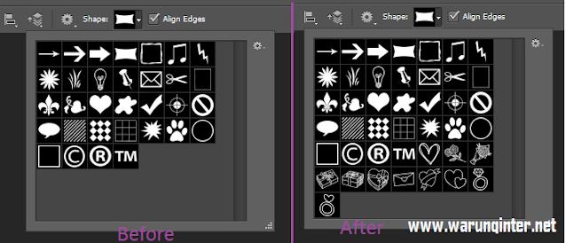 Cara Menambahkan Custom Shape Photoshop before atau after