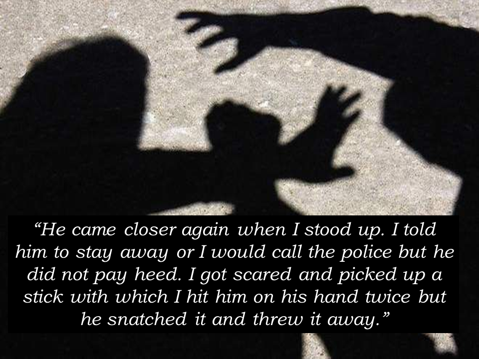 A Filipina working as an accountant in Dubai  was groped and attempted to be raped by a  24-year-old Pakistani  national. The man is now facing attempted rape, consumption of alcohol without license  at the Court of First Instance according to the report of Khaleej Times.  Public prosecution documents stated that the Pakistani who was drunk at that time, was sitting next to the Filipina at a bus stop at around 10:30 PM when suddenly, he grabbed and dragged the 33-year-old OFW behind a  parked heavy truck on the roadside and attempted to rape her.  Four men arrived at the vicinity and  stopped the Pakistani from doing his ill intention to the  the OFW. The Pakistani who works as a construction worker, has  been denying the rape charges and consumption of alcohol without a license when he appeared before the Court. He said that he cannot recall the incident. Sponsored Links The OFW added that she noticed the guy staring maliciously at her. Sensing the Pakistani's evil intent, the OFW moved away from him. The Pakistani followed her and started groping her and dragged her at the back of the nearby truck.   The OFW also said that he  grabbed  tightly by the hand and lifted her and she could not get away and escape.  They were struggling until four men came and rescued the OFW from imminent danger. They grabbed the Pakistani but he got away and resisted. An Indian man who was driving by said he saw the commotion and pulled his car over and saw the woman on her knees trying to keep the man from taking off her shirt.  A medical report showed the victim was left with knee and foot bruises after the attack. Source: Khaleej Times   Advertisement Read More:        ©2017 THOUGHTSKOTO