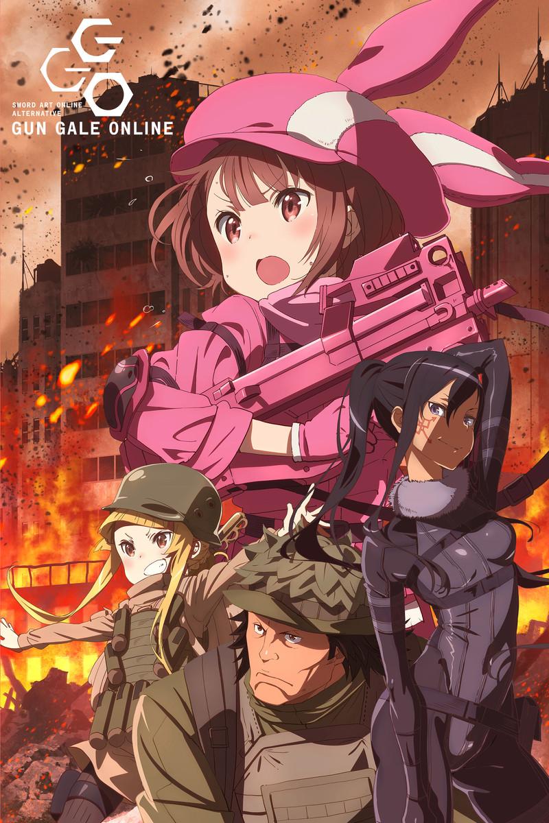 SAO ,SAO Alternative Gun Gale Online , ソードアート・オンライン オルタナティブ ガンゲイル・オンライン , Action, Fantasy, Game, Military, Sci-Fi , Anime , 2018