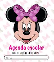 Agenda escolar editable Minnie Mouse
