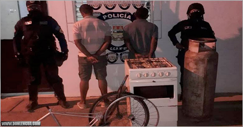 Detenidos en Falcón por robarse un fogón y una bombona