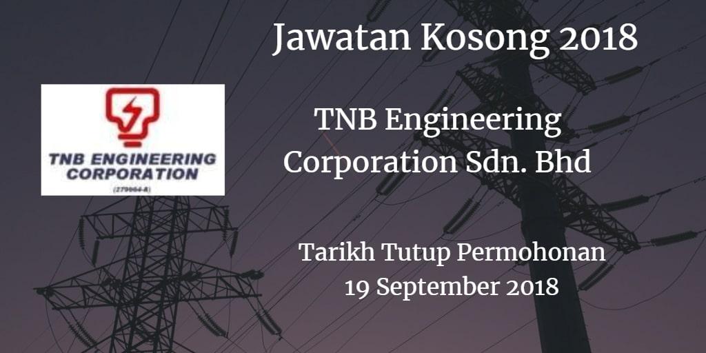 Jawatan Kosong TNB Engineering Corporation Sdn. Bhd 19 September 2018