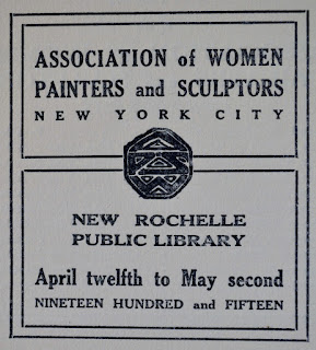 Library Exhibit / Association of Women Painters and Sculptors / 1915