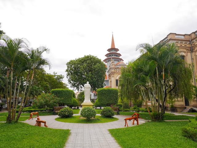 gardens around Redemptorist Church, Hue