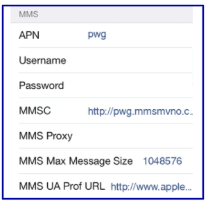 US Mobile Data Settings