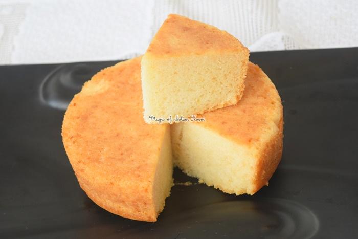 Eggless Vanilla Sponge Cake Soft Fluffy Recipe
