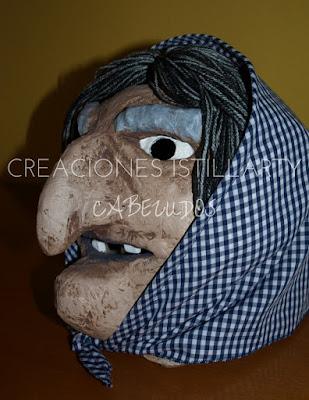 creaciones istillarty mini cabezudo bruxa bruja meiga