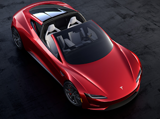 The Tesla Roadster has a removable lightweight glass roof.