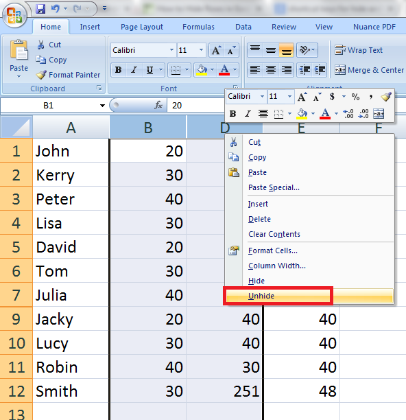 Learn New Things: Excel Shortcut Key: How To Hide And