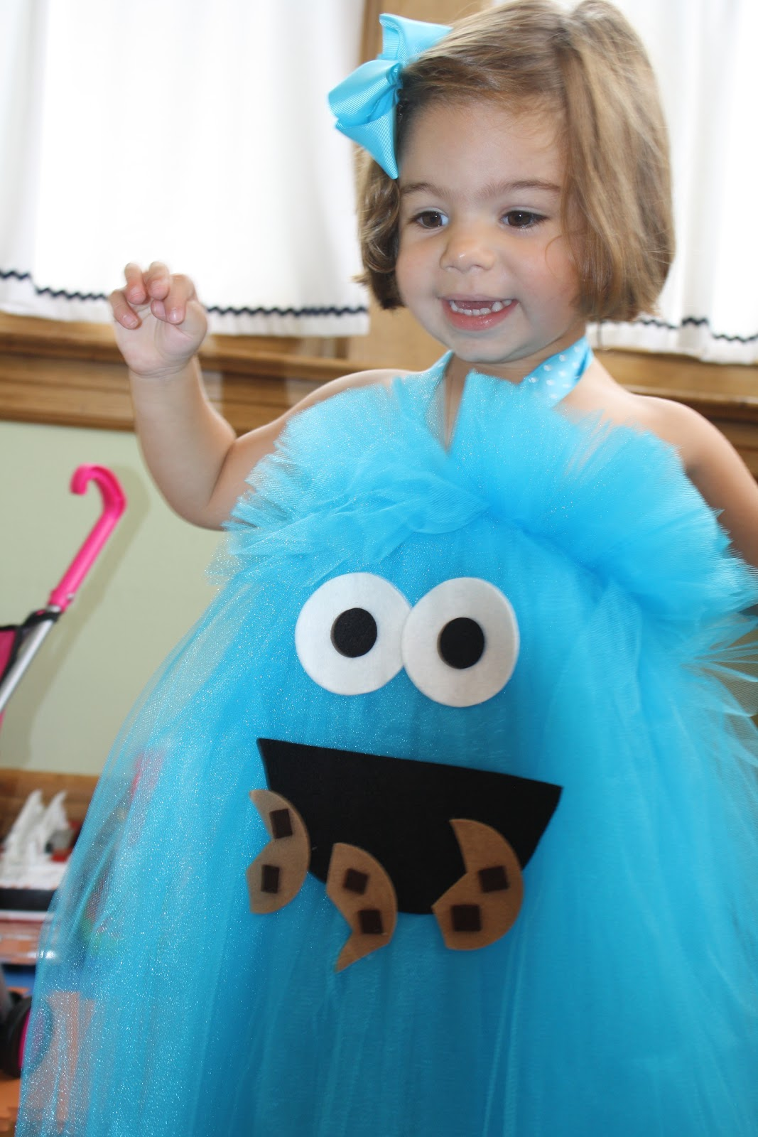 Toddler Dress Up Time Homemade Cookie Monster Halloween Costume