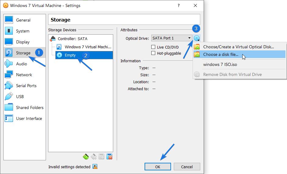 Windows 7 virtualbox image