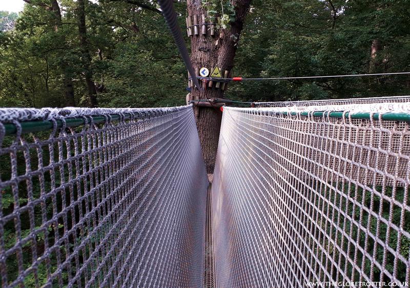 Rope Bridge - Tree Top Challenge at Go Ape, Cockfosters