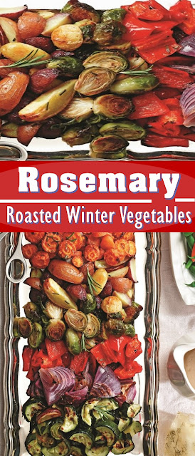 Rosemary Roasted Winter Vegetables Recipe #Vegan #Healthy