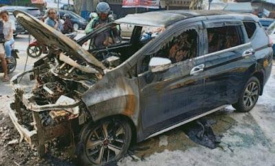 Xpander Yang Terbakar Di Riau Sudah Dimodifikasi