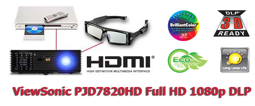 Cho thuê máy chiếu Full HD ViewSonic PJD7820HD giá rẻ tại TpHCM