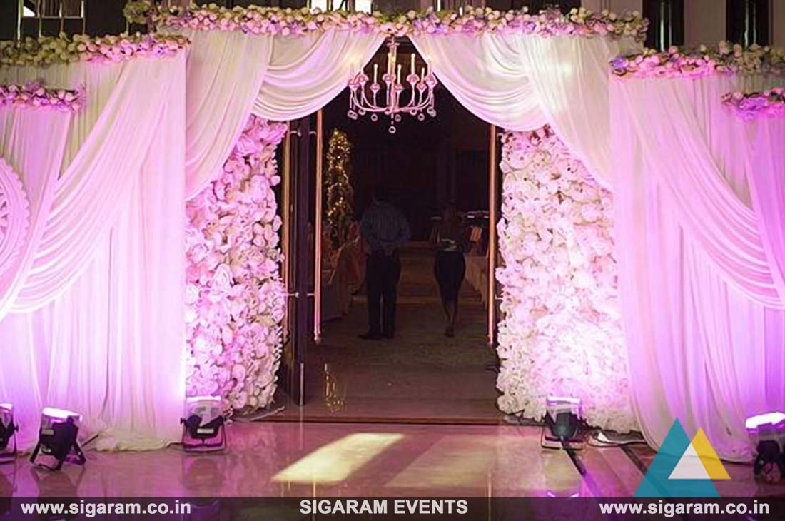 Wedding And Reception Entrance Door Decoration In Pondicherry